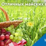 Майские праздники – повод порадовать близких полезными подарками