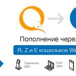 Пополнение Z и E кошельков WebMoney через QIWI