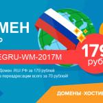 Домены и хостинг от REG.ru выгоднее с WebMoney